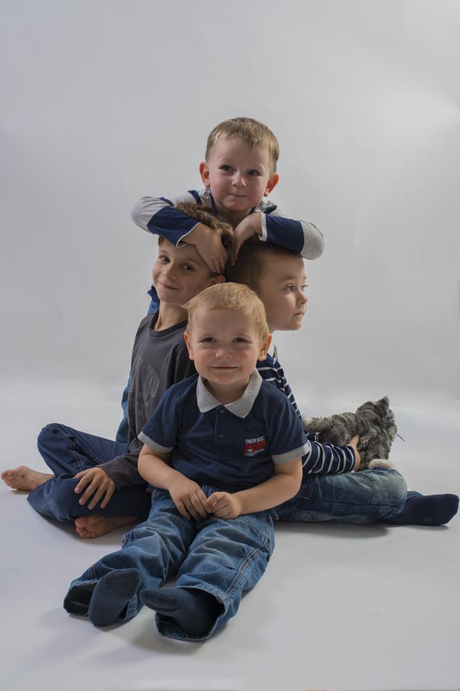 Rodinné foto malých dětí